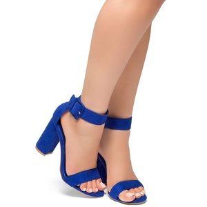 Chunky Heel Sandal Open Toe w/ Buckle Strap